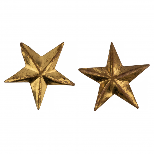 Antique Brass Star Military Buttons