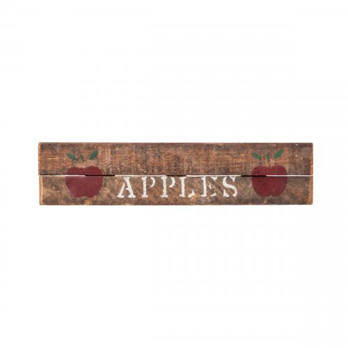 Vintage apple sign wall decor