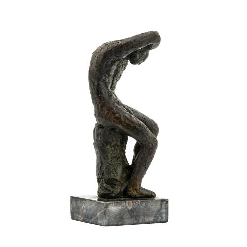 Vintage Bronze Male Sculpture