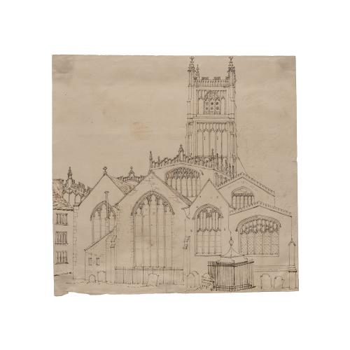Old Church Drawing