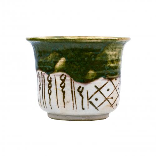 Japanese Pottery Decorative Bowl Oribe