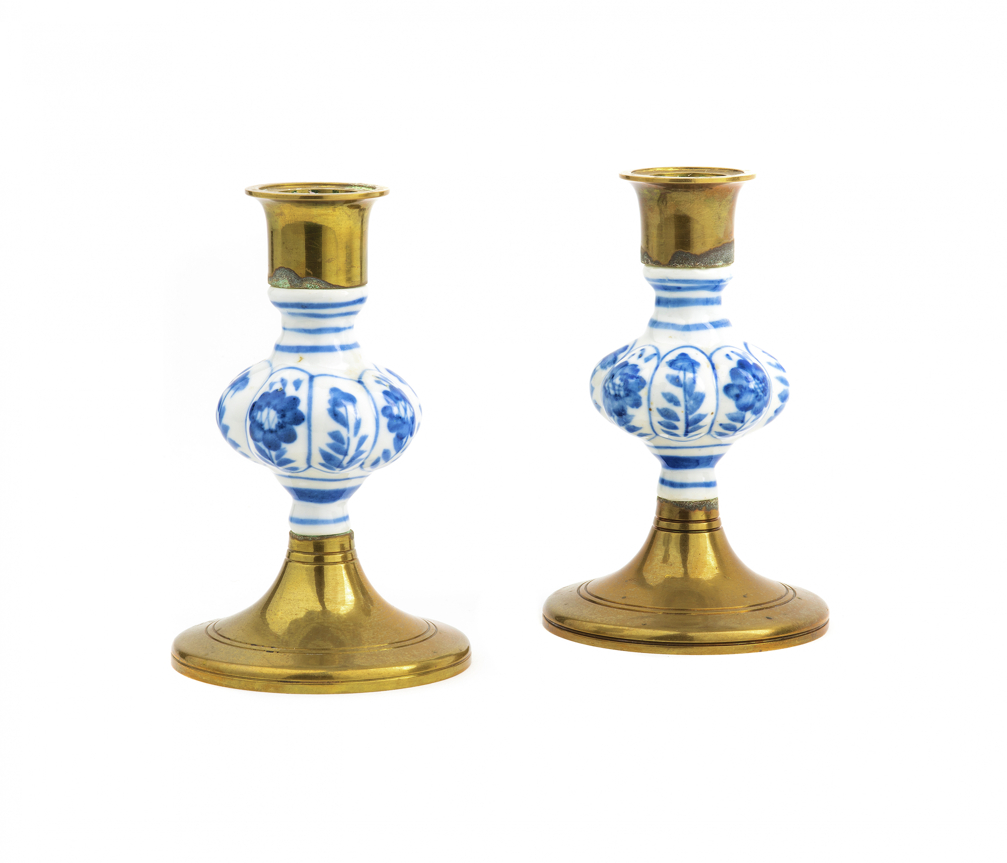 Delft Blue Candle Holders