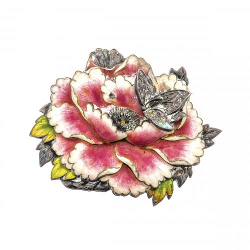Antique Flower Enamel Pin