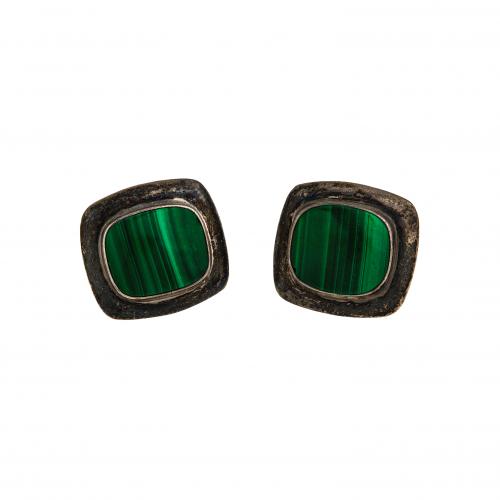 Vintage Malachite Earrings