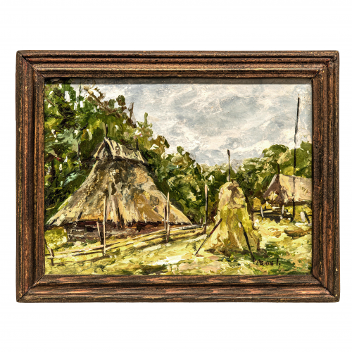 Vintage Landscape Scenery Painting
