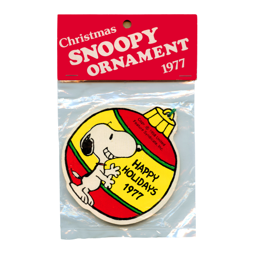 Vintage Snoopy Christmas Ornament
