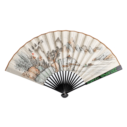 Chinese hand fan painting