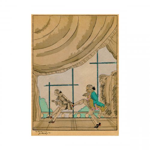 French Illustration Print