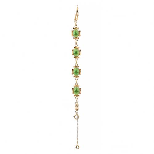 Jade costume jewelry bracelet