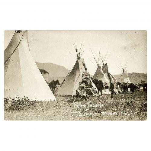 Flathead Indians Vintage Postcard