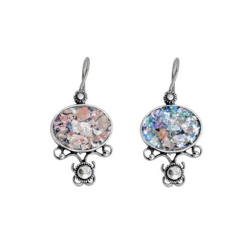 Vintage Roman Glass Earrings