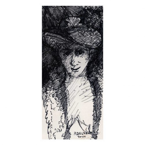 Ladies Portrait Ink Drawing