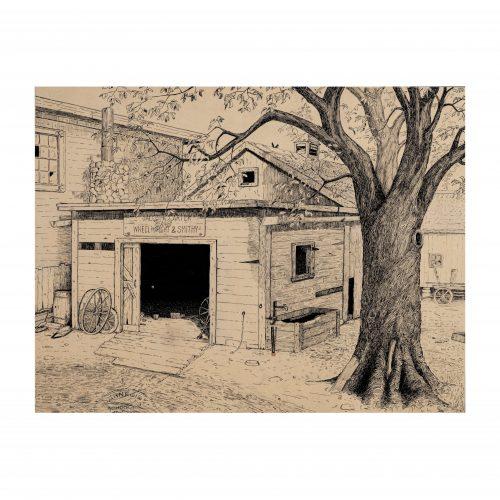 Farm Yard Drawing