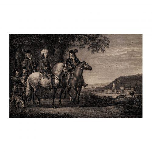 Hunting Scene Landscape Print