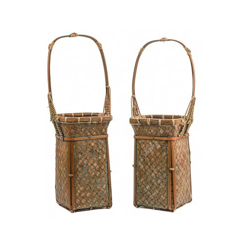 Japanese woven flower baskets decorative baskets home decor