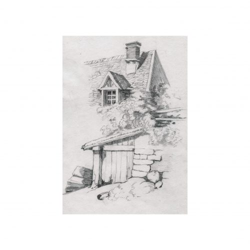 Old English Cottage Drawing