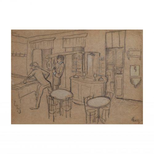Billiards Room Art Drawing