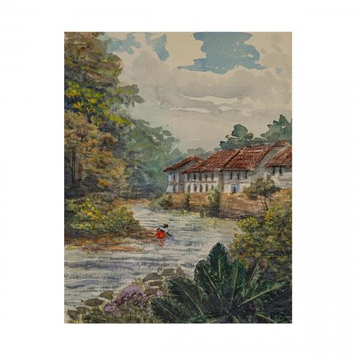 Sri Lanka Watercolor Painting