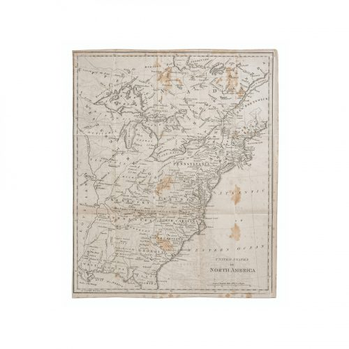 old American map prints wall art