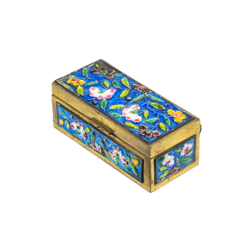 Antique Enamel Trinket Box