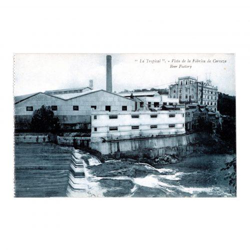 La Tropical Beer Cuban Factory Postcard