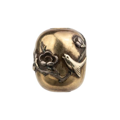 Antique Japanese Metal Bead