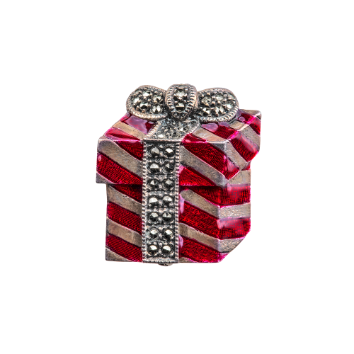 Red Christmas Brooch