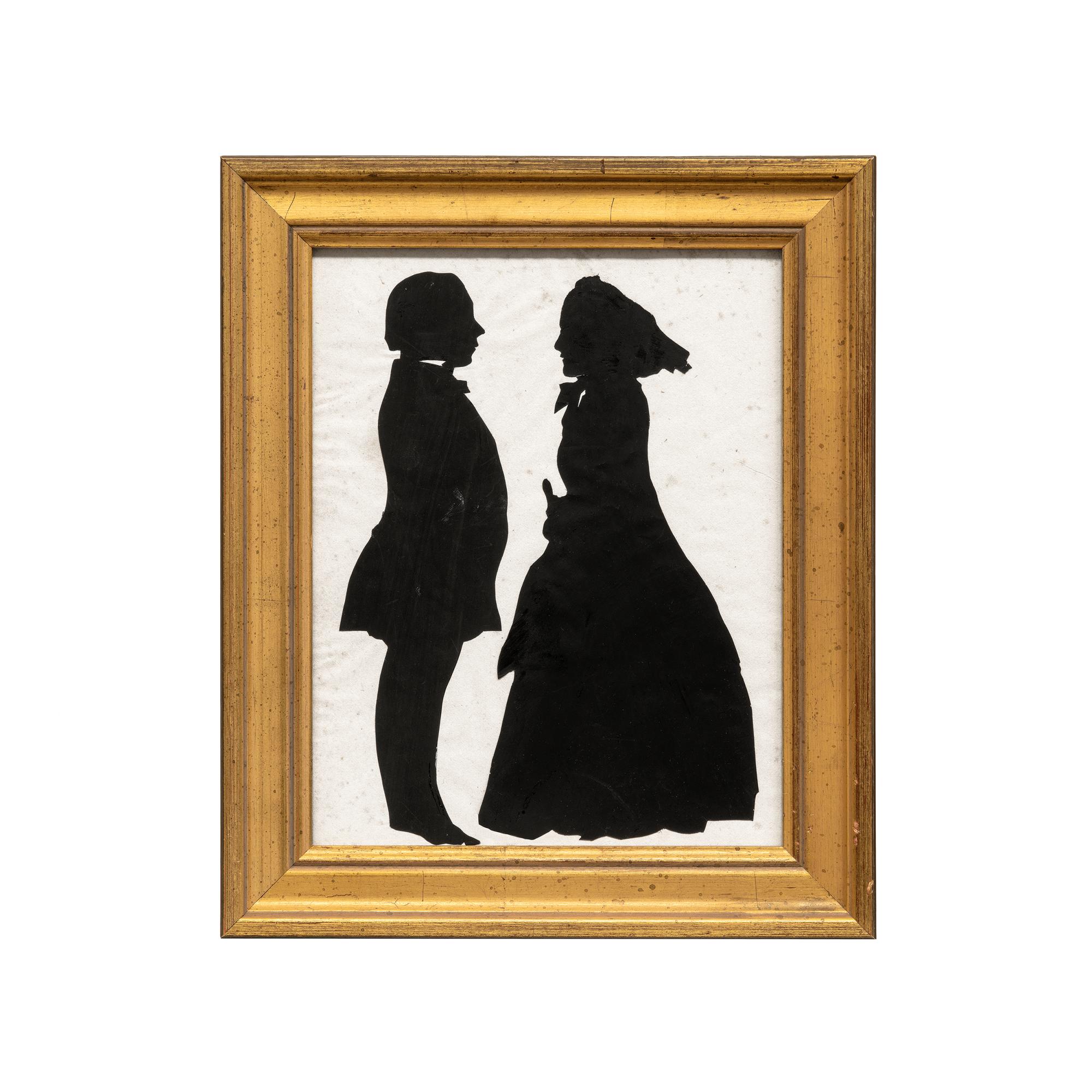 Antique Framed Silhouette