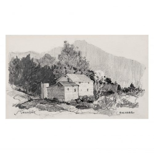 Vermont Landscape Drawing