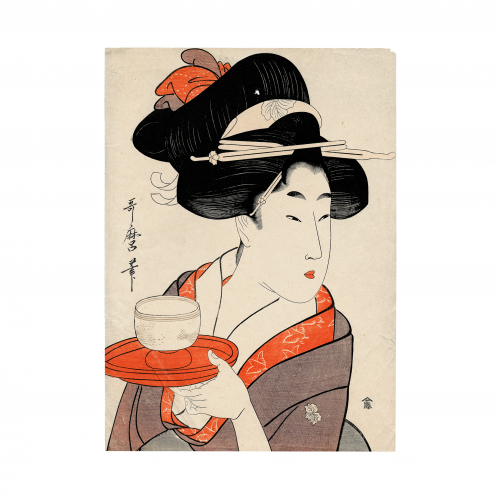 Geisha Woodblock Print