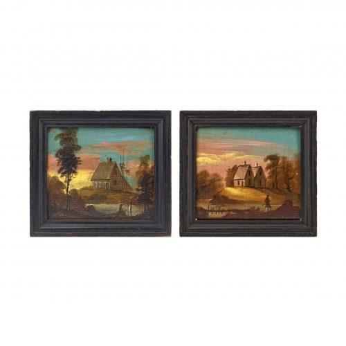 American Folk Art Landscape Paintings