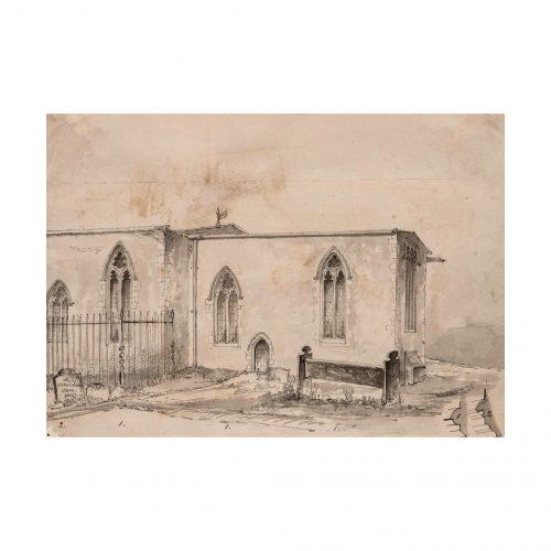 Church Courtyard Drawing
