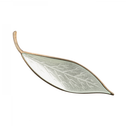 Silver Leaf Brooch