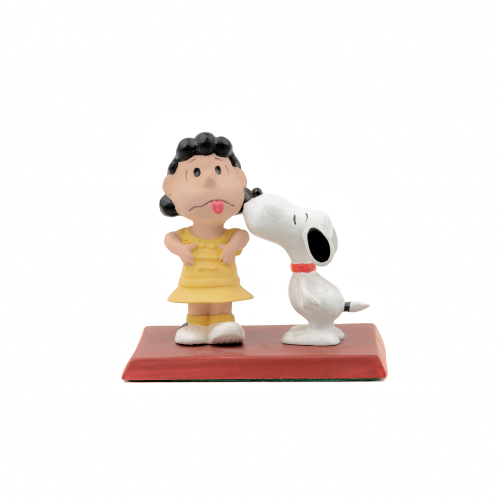 Snoopy and Lucy figurine