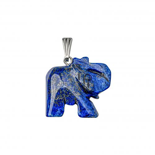 Lapis Elephant Pendant