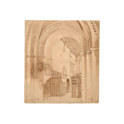 Gothic Interior Drawing