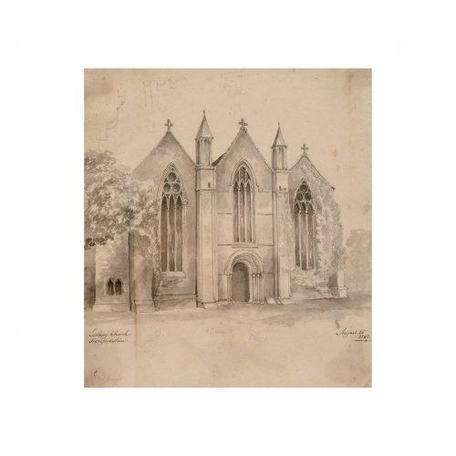 Antique Church Drawing