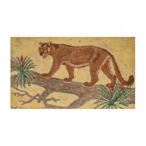picture of a french lion painting for sale