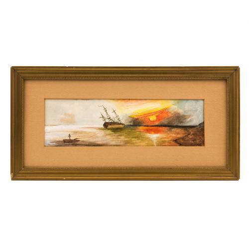 Maritime Watercolor Painting