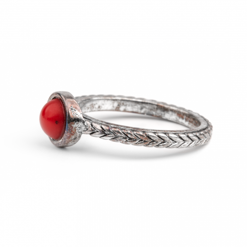 faux coral ring