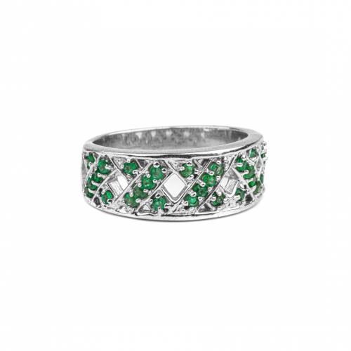 Pave Emerald Vintage Ring