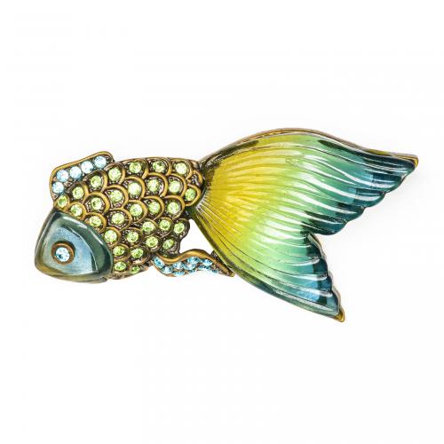 goldfish brooch