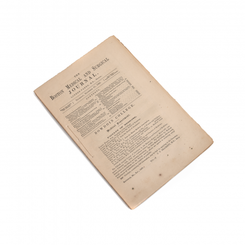 Boston Medical and Surgical Journal 1869