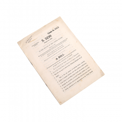 U.S. Senate Hospital Construction Report 1940