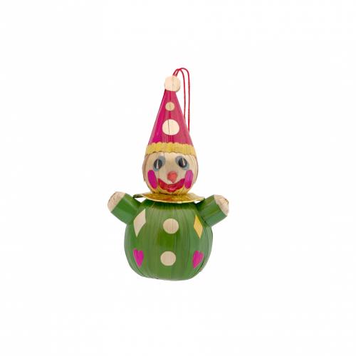Handmade Clown Ornament