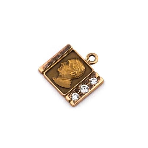 Gold Portrait Pendant