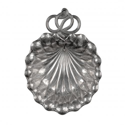 silver leaf dish
