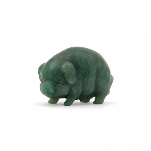 jade pig paperweight