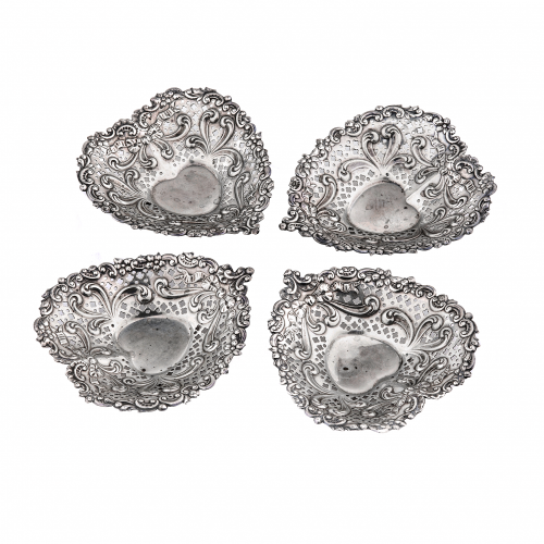 Silver Heart Dishes
