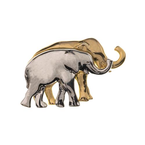 Vintage Elephants Brooch